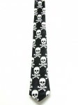 Black & White skull Satin Necktie